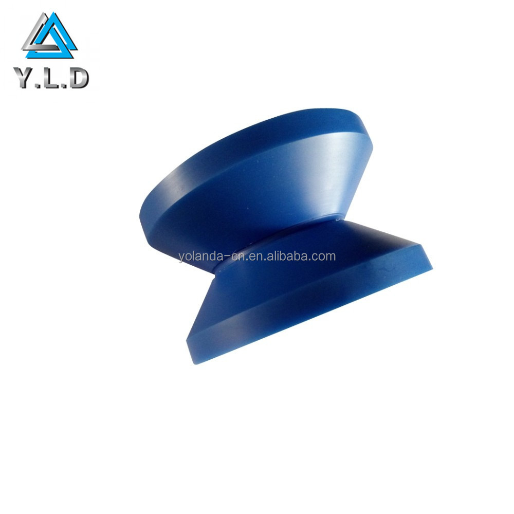 Custom CNC Machining Precision Lathe Turning Blue Plastic Pully