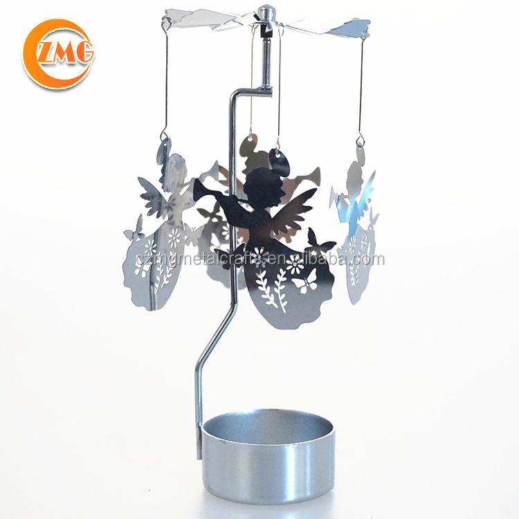 hot sale Christmas holidays spinning/rotary/carousel decorative candle holder