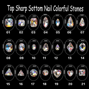3D nail art decorations huge crystal shinning glittery glamour fantasy precious stones gemstone jewel bijou accessories