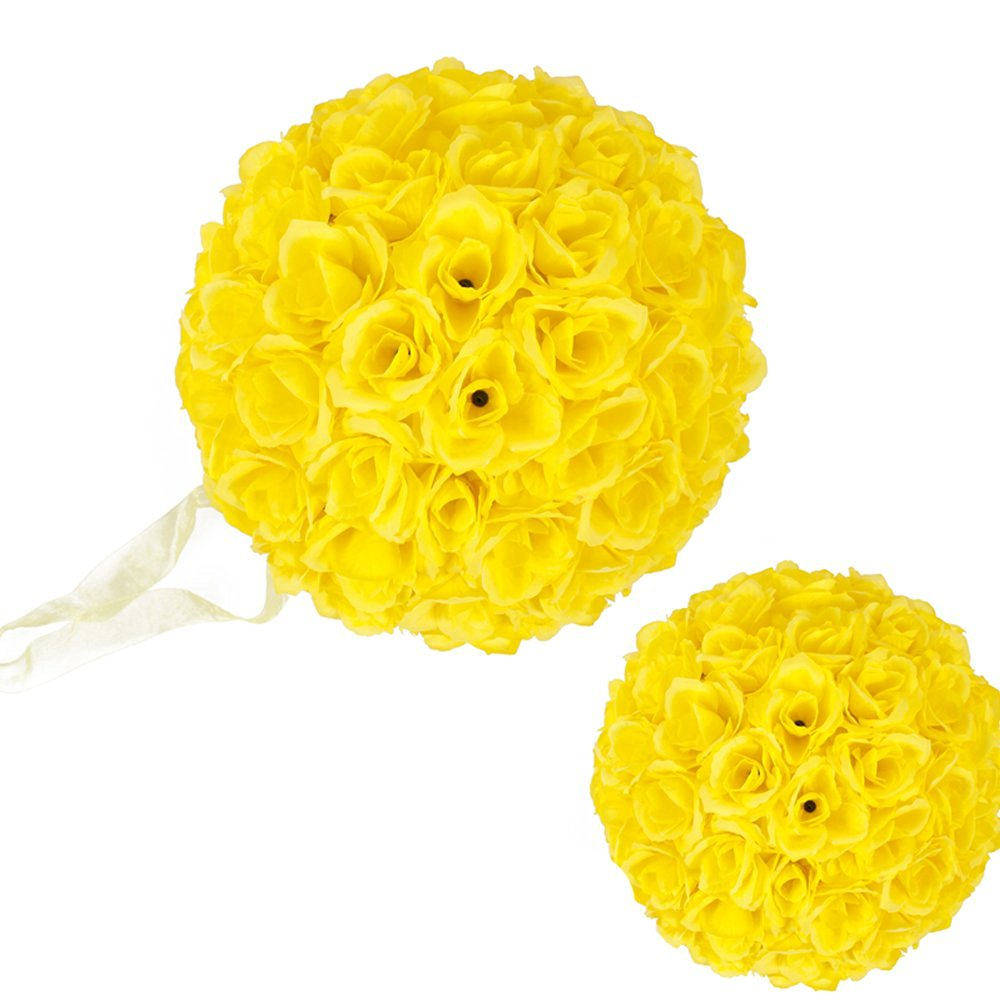 Cheap yellow flower balls find yellow flower balls deals on line at get quotations 10 pack romantic rose pomander flower balls rose bridal for wedding bouquets artificial flower diy yellow mightylinksfo