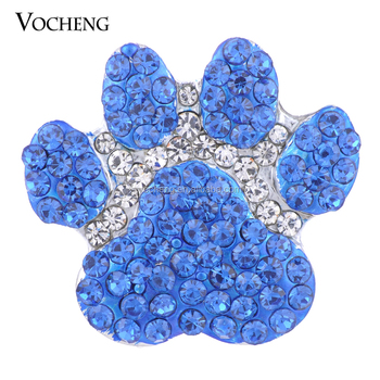 20PCS/Lot Wholesale 18mm Vocheng Ginger Snap Jewelry Blue Sugar Paw shape snaps Vn-1380*20 Free Shipping