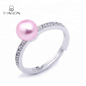 New Design S925 Sterling Silver Women Freshwater Pearl Rings Jewelry