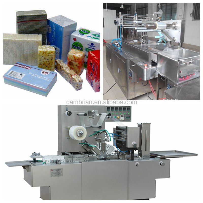 Widely usage carton box cellophane wrapping packaging machine with best price