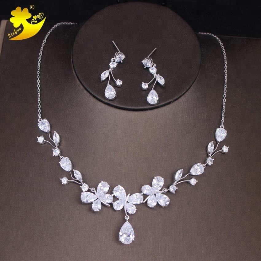 2018 Butterfly Aaa Zircon Necklace Bride Wedding Dress Diamond