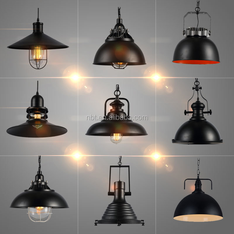 ronde vintage plafond lampe moderne loft industriel edison e27 ampoule plafonnier lustre id de. Black Bedroom Furniture Sets. Home Design Ideas
