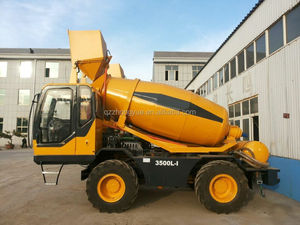 Mobile 3m3 concrete mixer for island concrete construction use
