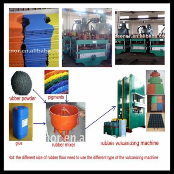 Caoutchouc moulage tuiles making machine de recyclage des pneus caoutchouc - Paillis caoutchouc recycle ...