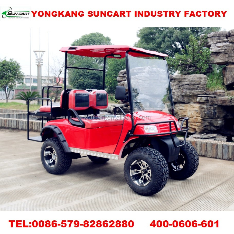 4 seater electric golf cart for sale ,4 passenger battery golf buggy with rear seater,club golf car