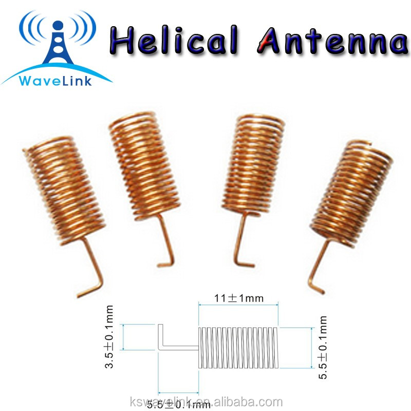 Copper Helical Antenna 868mhz, Copper Helical Antenna 868mhz