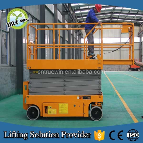 Professional lift manufacturer 40 feet electric self propelled scissor lift