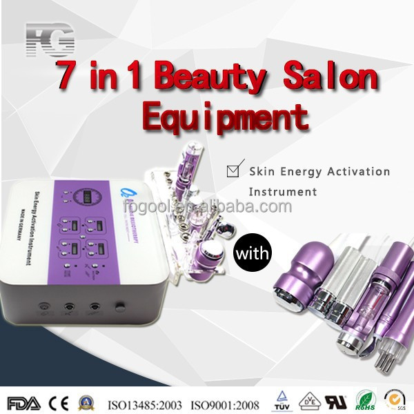 2016 Portable 7 in 1 diamond crystal microdermabrasion beauty salon machine