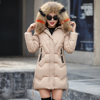 or10404h 2018 Europe and America winter coat women Medium style thick coats ladies