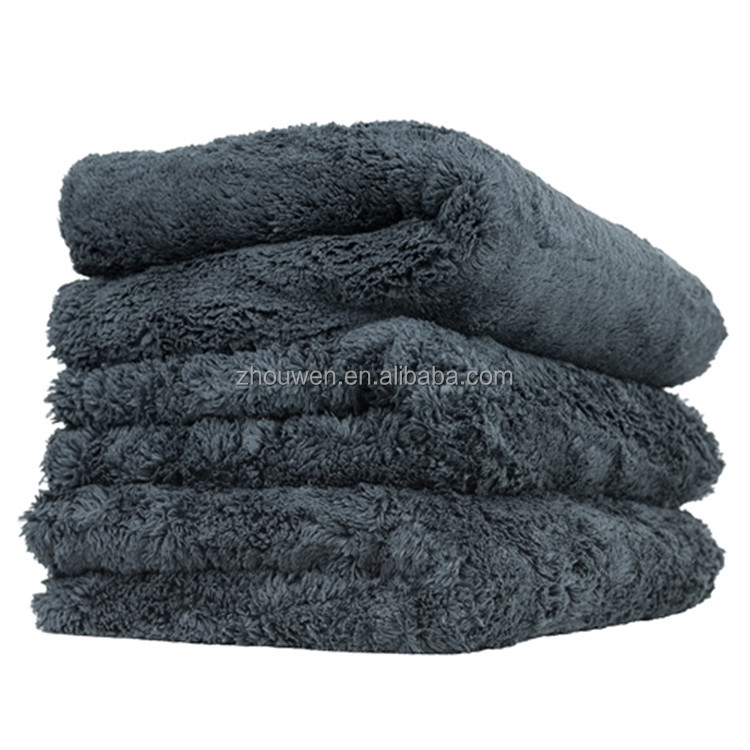 Custom Thicken plush Edgeless microfiber car cleaning cloth wash <strong>towel</strong> eagle edgeless 16 x 16 microfiber <strong>towel</strong>