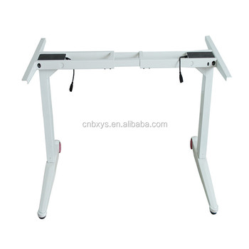Approved Twin Motor 2 Segment Heavy Duty Electric Adjustable Standing Desk  Factory
