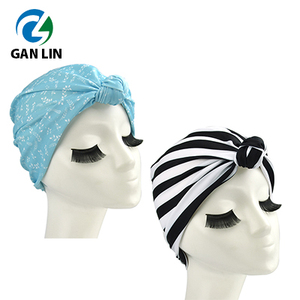 2018 new design lycra women turban style hair turban