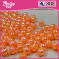 multiaspect custom noen color plastic 8mm round beads for jewelry making