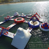 giant inflatable water games, floating inflatable aqua park, inflatable water obstacle course