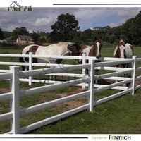 FENTECH Black And White Horse Fence Paddock Ranch Fence