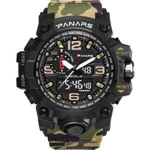 Panars Brand Camouflage Sport Men Military Watch Digital Analog Wrist Watch Relogio Masculino Reloj Hombre Saat