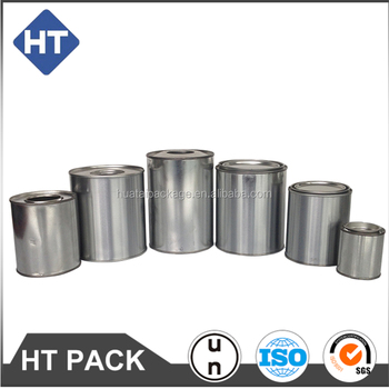 various sizes round tin box, engine oil additive container, custom packaging with spout cap