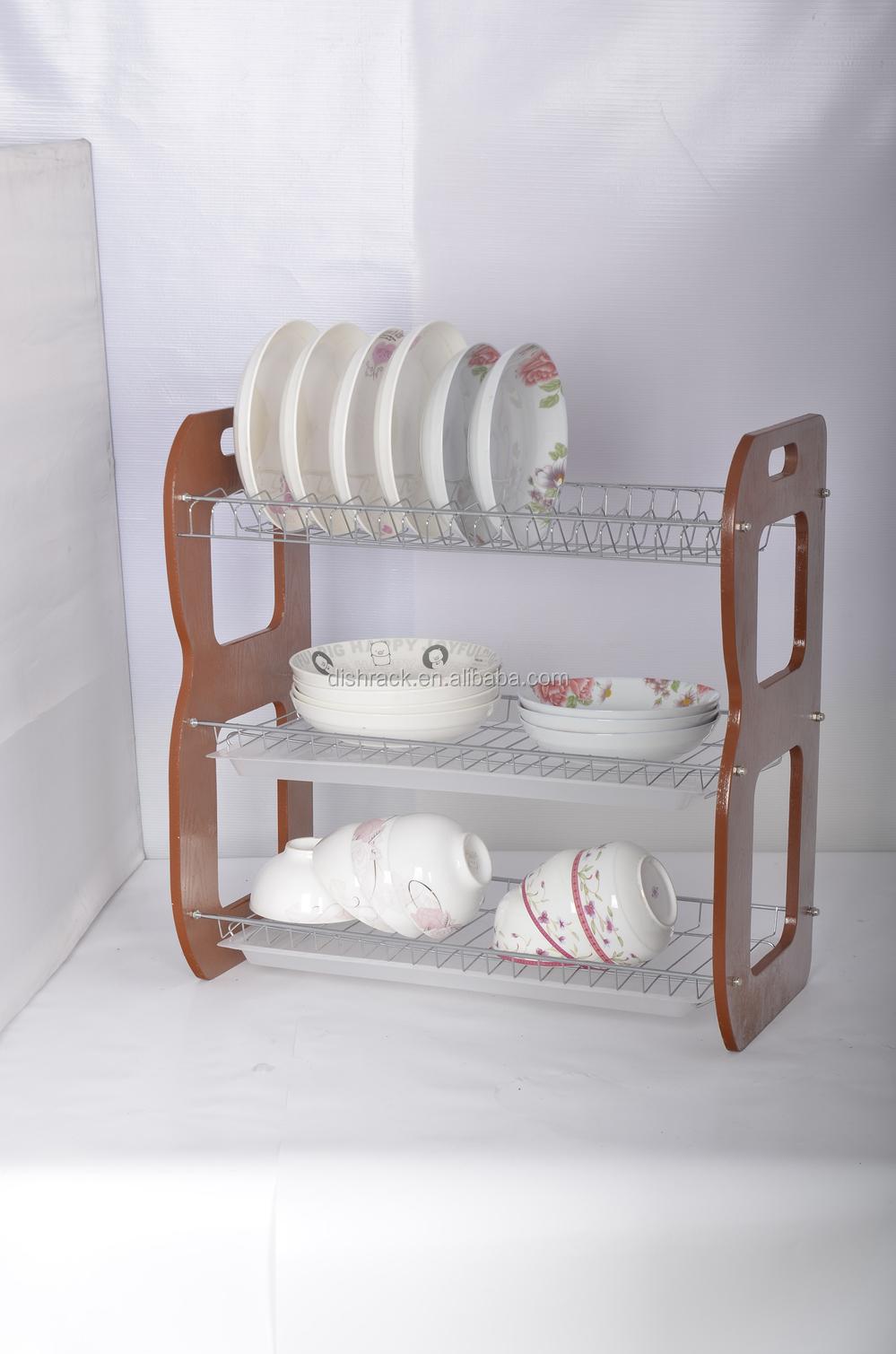 Plate Storage Rack Kitchen Dish Plate Metal Display Rack Kitchen Storage Rack Wall Mounted