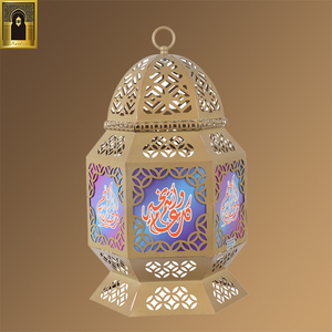 custom printed size handmade dubai large glass iron moroccan lantern light arabic style moroccan candle holder