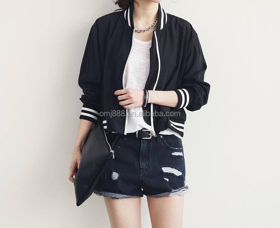 Hot Sell Fashion Simple Korean Style Custom Short Coat Baseball ...
