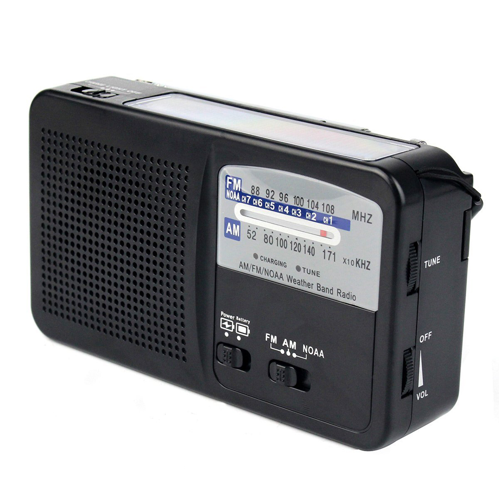 hand crank dab digital weather radio with power solar for camping