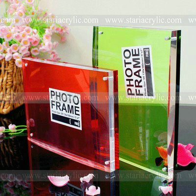 Hot Sale Double Sided Acrylic Photo Frame With Magnetscrystal Clear