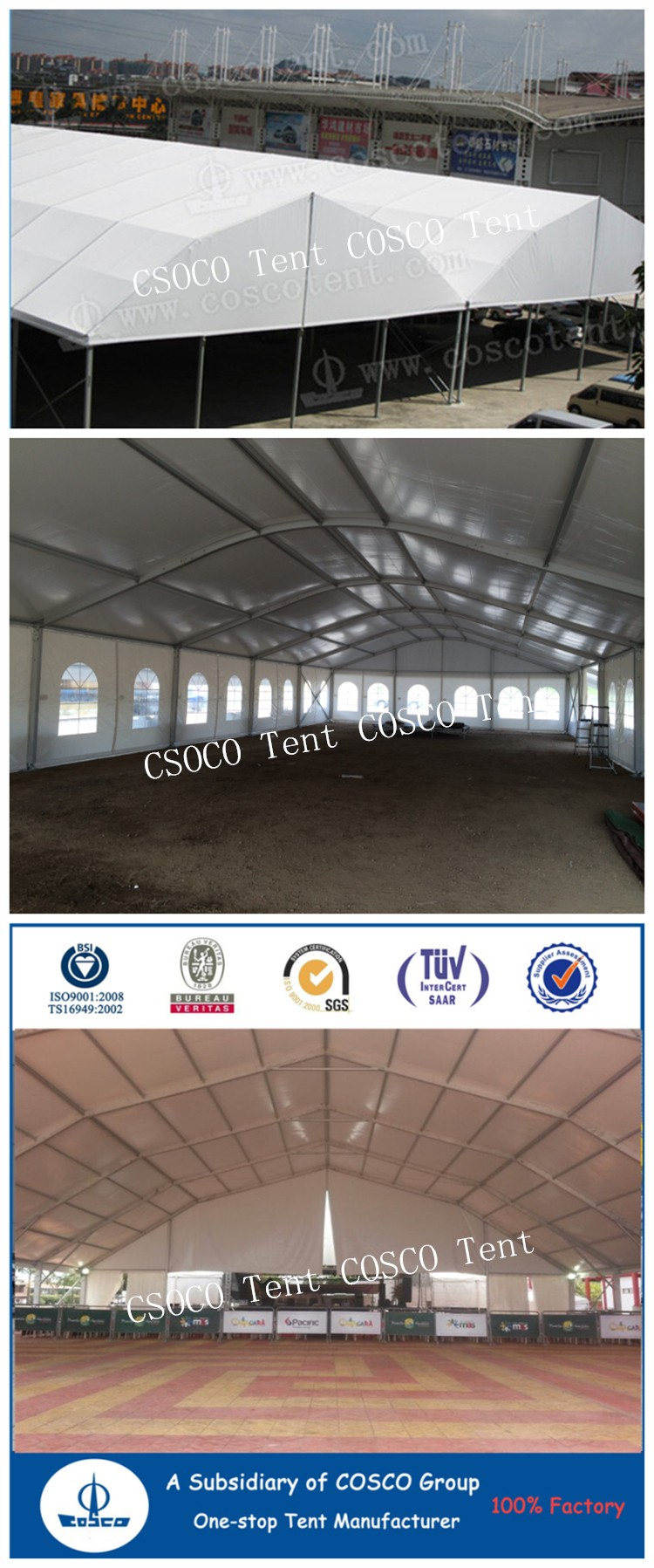 Commercial Polygon Roof Marquee Canopy Tent With PVC fabric coated