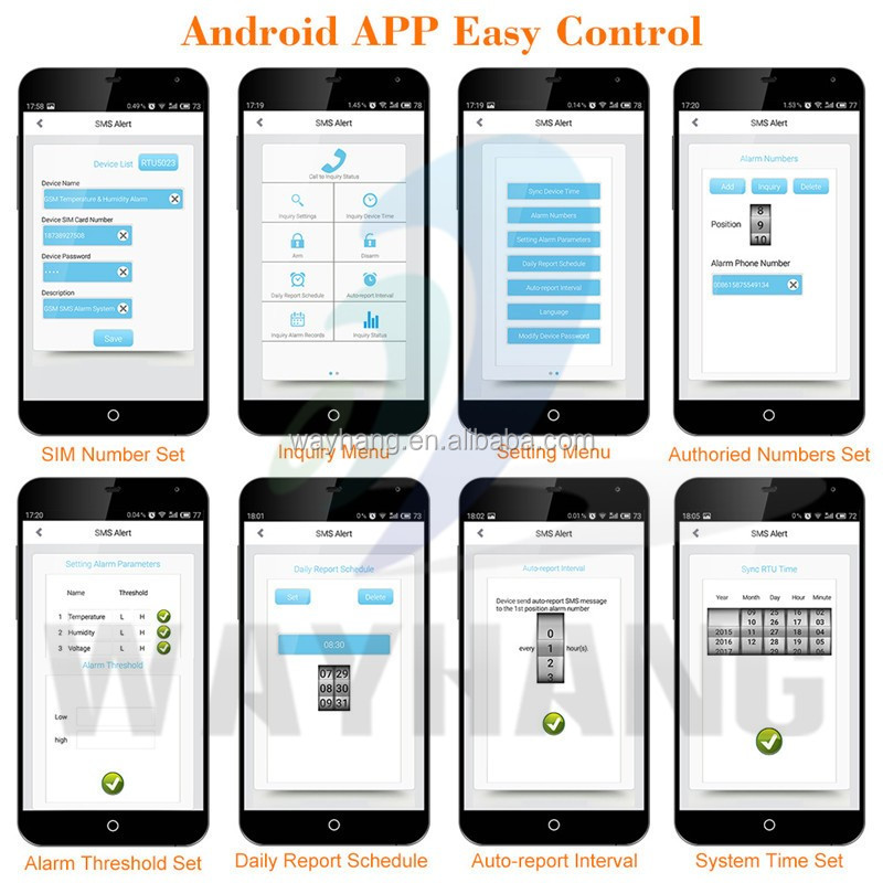 Multiple Applications App Gsm Sms Temperature Alarme Humidity ...