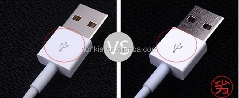 Atacado de alta qualidade 1 m / 2 m / 3 m para o iphone 6 cabo OEM para apple iphone cabo carregador IOS9 para cabo do iphone