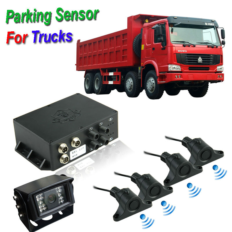 Long Range Buzzer Alarm 7 inch led parking sensor system car reverse backup radar