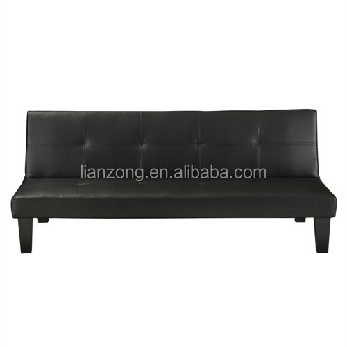 Leather Convertible 3 Seater Sofa / Futon LZ1706H