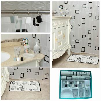 Latest Cube Design Bathroom Set,plastic Bathroom Accessory
