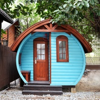 New style cheap arched cabin houses barrel shape prefabricated tiny homes movable wooden dome wood house kit