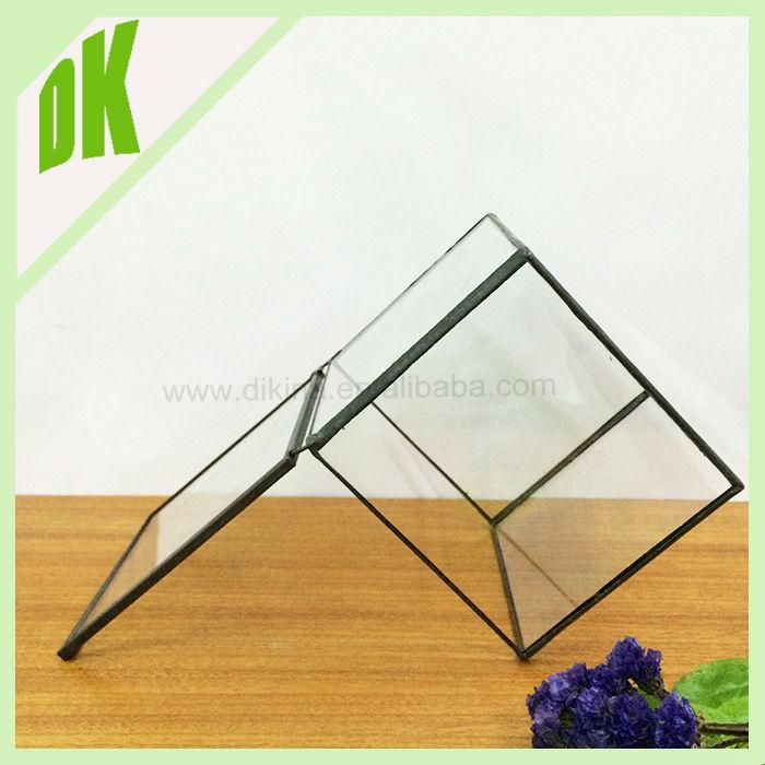 Cube Small Geometric Glass Terrarium Handmade Planter Indoor