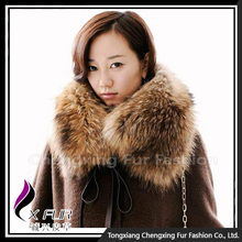 Collar-R10 Women Detachable Raccoon Real Fur Collar