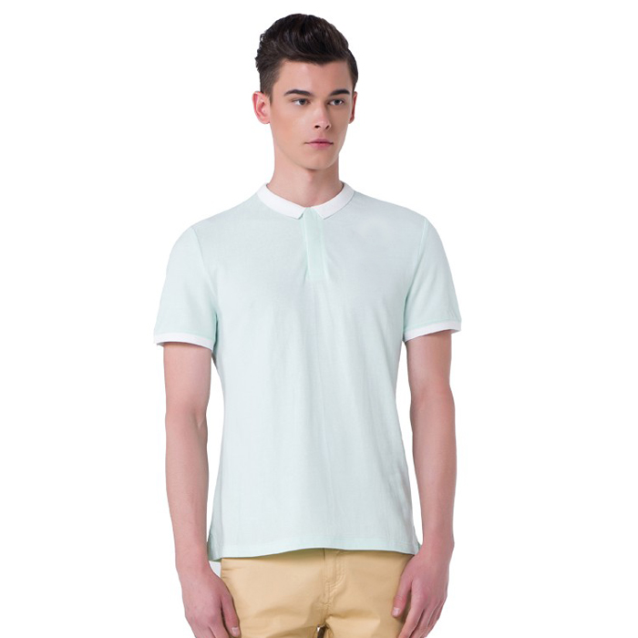 Stylish blank no button polo shirts for men