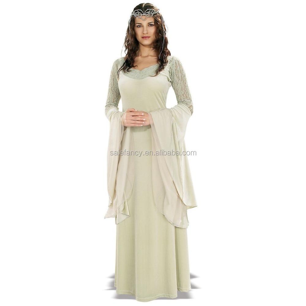 f344df68ed92 Arwen Costume fancy dress costumes Adult Deluxe Medieval Renaissance Queen Fancy  Dress QAWC-8887