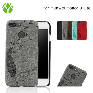 Cheap mobile phone accessories leather case for huawei honor 9 lite back cover
