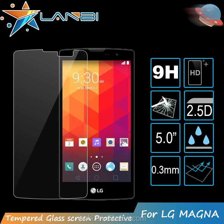 0.3mm/2.5D Material Asahi Mobile Phone,laptop tempered glass screen protector Sheet For LG Magna