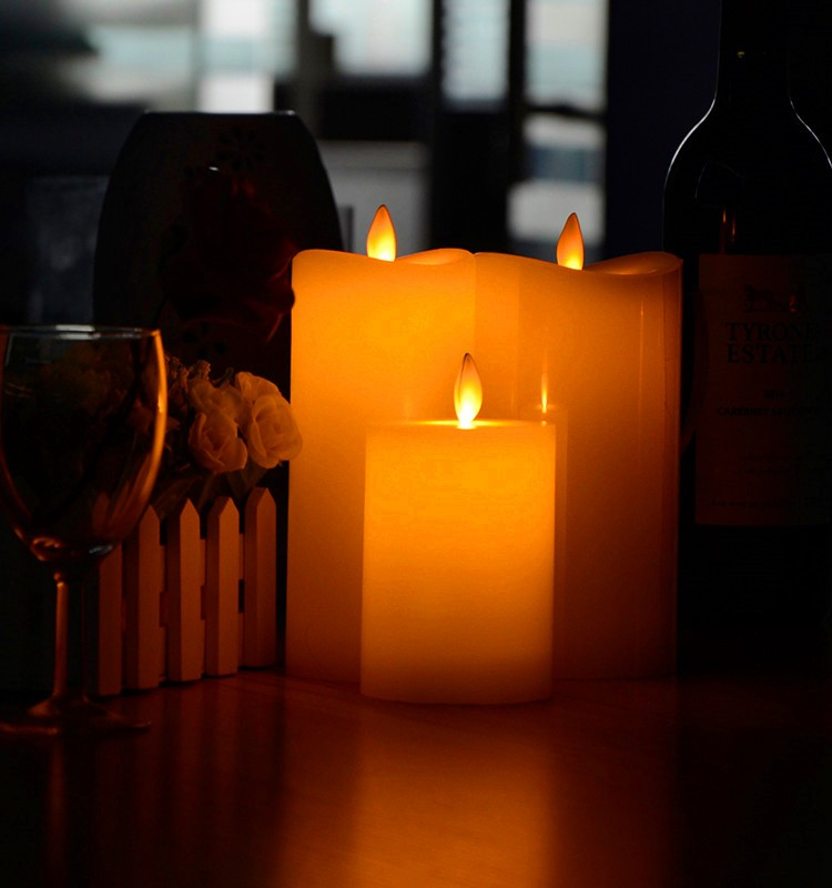 Moving Wick Flameless Led Advent Candles With Timwe For ...
