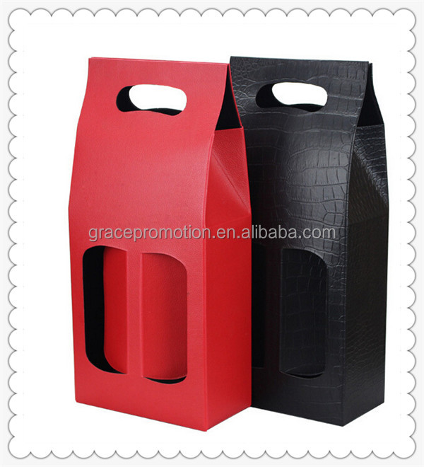 Competitive Price And Novel Design PU Wine Bag for Gifts