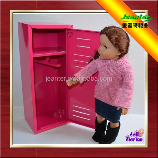 Mid-east market single door Rose red color metal lockers mini steel locker