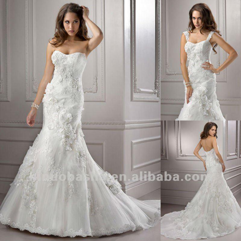 Venta al por mayor vestidos de novia de corset atras-Compre online ...
