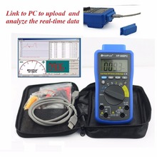 HoldPeak HP-90epc Multimeter Digitais PC USB Multimeter Digital Auto Range Multimeter Capacitance Meter Data USB with Carry Bag