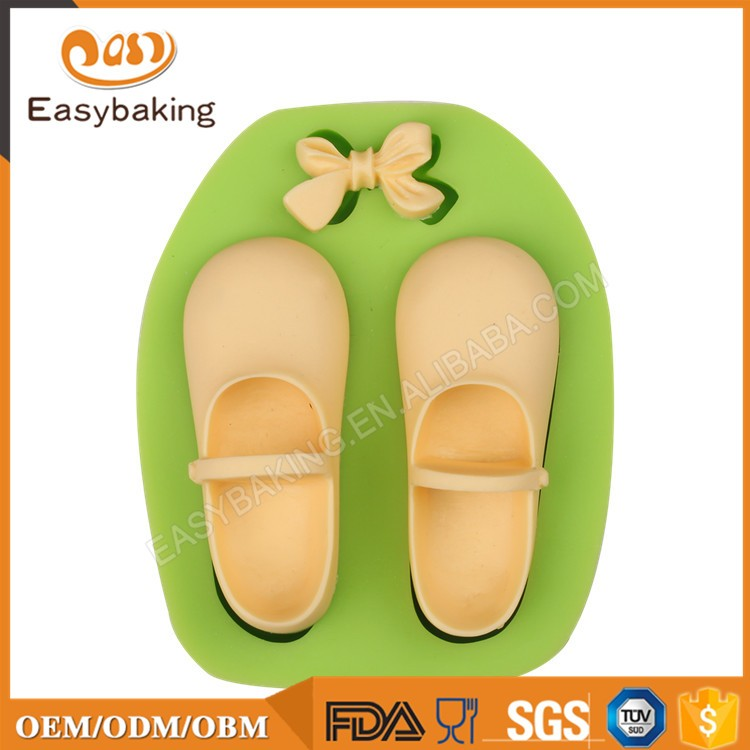ES-1122 Shoes Silicone Molds with bow for girl