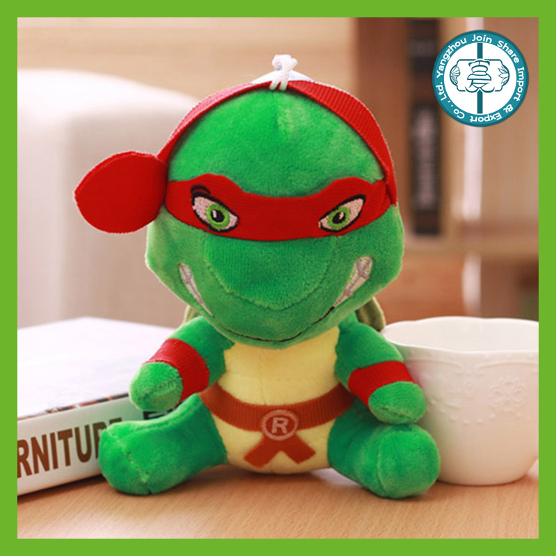 High quality soft toy plush green tortoise with cool goggles