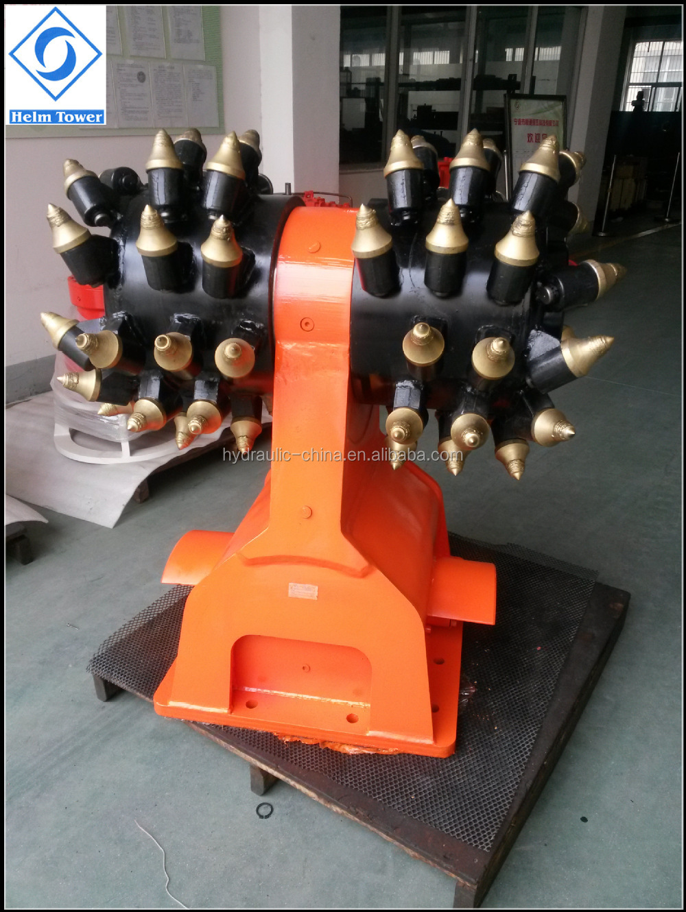 Excavator Attachments Horizontal Hydraulic Drum Cutter Made In ...
